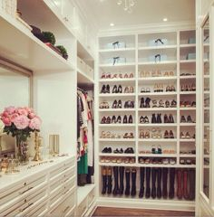 A beautifully organized closet.