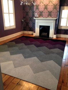 "Rake Me Over - Ombre Chevron - Tom Henson: This ""ombre"" effect is really cool!"