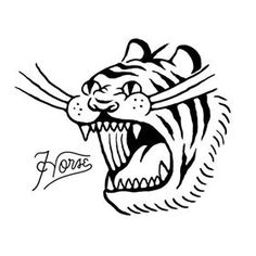 Funny Illustration, Ink Illustrations, Graphic Design Illustration, Digital Illustration, Tiger Art, Flash Art, Graphic Design Inspiration, Screen Printing, Character Design
