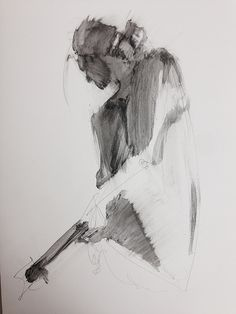 Life drawing- figure study using liquid pencil, Karen Darling