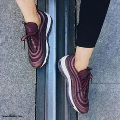 Shop For Nike Air Max Shoes: Order Nike Air Max 97 Burgundy Obsession Running Shoe Sneaker Outlet, Nike Lunar, Air Max Thea, Running Shoes Nike, Nike Shoes, Air Max 97 Outfit, Air Max Sneakers, Sneakers Nike, Shopping