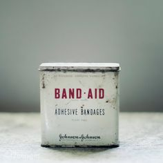 When Band-Aids came in tins.