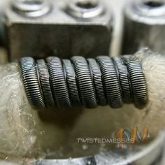 Build I did for @0x47 at world vape expo miami  Fused 26#AN80 parallel with fused 29g KA1 #coilporn #twistedmesses