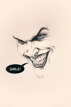 Joker Batman Smile Flat Minimal iPhone 5 Wallpaper
