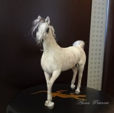 Needle Felted Arabian Horse by Anna Petinati