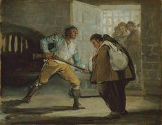 El Maragato - Frero Pedro de Saldinia et le bandit Maragato, 1807 - Série de 6 tableaux narrant l'histoire de la détention d'un bandit au XIXème siècle
