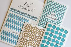 Items similar to 5 Eid greeting cards with Gorgeous islamic patterns. on Etsy Eid Greeting Cards, Eid Cards, Islamic Patterns, Geometric Patterns, Eid Hampers, Eid Mubark, Islamic Events, Eid Mubarak Card, Eid Greetings