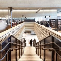 View the full picture gallery of Hamar Culturehouse Norway Viking, Interior Staircase, Atrium, Stairways, All Design, Coffee Shop, Architecture, Building, Instagram Posts