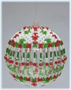 Free Beaded Christmas Patterns | ... christmas ornament bead pattern rose christmas ornament bead pattern