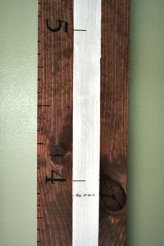 Cupcakes and Crinoline ~ Wooden Ruler Growth Chart Tutorial