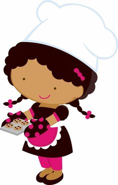 Sweet Little Girl Chef Clipart. This images will help you for doing decorations, invitations, toppers, cards and anything you nee. Clipart, Seasonal Image, Illustration Girl, Girl Illustrations, Monster High Dolls, Printable Designs, Cute Images, Paper Piecing, Paper Dolls