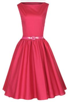 Audrey Hepburn 50s style dress (Raspberry Pink)