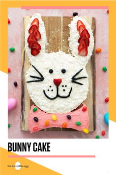 Put a hare pin in this Easter Bunny Cake recipe for your Easter brunch. This recipe will definitely take the cake when you bake it up for the family this year. Easter Bunny Cake, Easter Cookies, Easter Appetizers, Holiday Appetizers, Edible Pearls, Incredible Eggs, Easter Recipes, Easter Ideas, Easter Crafts