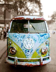 Half Off Overstocked Sale Volkswagen Van Art by donnageissler