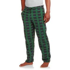 Big Men's Micro Fleece Sleep Pants with Bungy Cord, Size: 3XL, Green