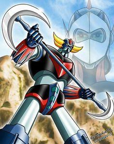 Goldorak Robot Cartoon, Cartoon Art, Koji Kabuto, Japanese Superheroes, Arte Robot, Super Robot, Japanese Cartoon, Animation, Ufo