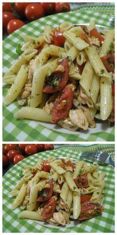 Pasta salmone e  pomodori, da gustare in versione fredda! #pasta #salmone #basilico #ricettegustose