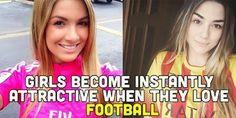 Piękne kobiety są jeszcze piękniejsze, kiedy są fankami piłki nożnej • Kobiety stają się atrakcyjniejsze kiedy kochają futbol >> #women #football #soccer #sports #pilkanozna