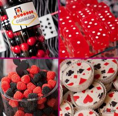 festa cassino Casino Wedding, Royal Theme, Las Vegas Party, Casino Party Foods, 50th Birthday, Party Planning, Party Time, Raspberry, Fruit