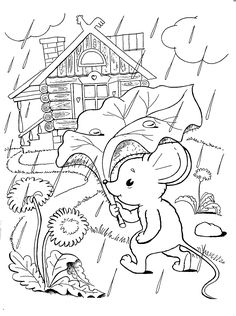 детский домик раскраска Coloring Pages Winter, Coloring Sheets For Kids, Coloring Books, Colouring, Sequencing Pictures, Fantasy Life, Preschool Worksheets, Color Stories, Baby Crafts