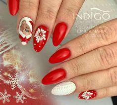 50 Beautiful Stylish and Trendy Nail Art Designs for Christmas Winter Nail Designs, Christmas Nail Designs, Christmas Nail Art, Nail Art Designs, Xmas Nails, Holiday Nails, Autumn Nails, Winter Nails, Burgundy Nail Art
