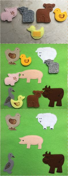 "Quiet book page TUTORIAL ""Animals and their babies"""