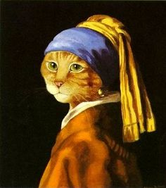 furball with a pearl earring