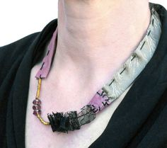 #Party fabric  #necklace gold and pink with beads  by lillicose, $30.27 #gift #christmas
