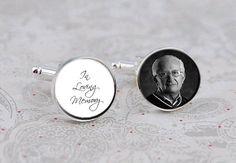 In Loving Memory Memorial Cufflinks Wedding Cufflinks by KCowie