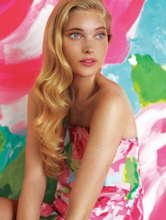 Elsa Hosk is gorgeous! Preppy Girl, Preppy Look, Girly Girl, Elsa Hosk, Lilly Pulitzer, Bae, Spring Summer Fashion, Kids Outfits, Hair Beauty