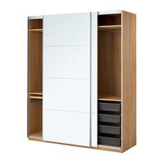 IKEA - ПАКС, Гардероб, , Бесплатно 10 лет гарантии. Подробнее об условиях гарантии – в гарантийной брошюре.Эту комбинацию ПАКС/КОМПЛИМЕНТ можно адаптировать в соответствии с вашими потребностями, воспользовавшись программой для проектирования гардеробов ПАКС.Раздвижные дверцы не требуют места при открывании.Обеспечивает плавное и бесшумное закрывание дверец.Для организации внутреннего пространства можно дополнить внутренними элементами серии КОМПЛИМЕНТ.Регулируемые ножки позволяют ...