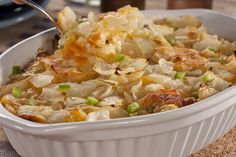 Lovin Onion Casserole-I'm thinking about adding ground beef, sausage, or smoked sausage to this.