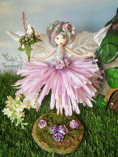Handmade fairy Fairy doll Magical fairy Fairies Christmas angel Christmas fairy handmade by me Lula at Lula Tuesdays Fairies - Her Crochet Fairy Crafts, Angel Crafts, Doll Crafts, Diy And Crafts, Christmas Fairy, Christmas Angels, Christmas Crafts, Clothespin Dolls, Tiny Dolls