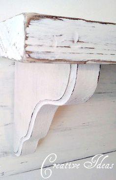 Creative Ideas: How To Make a Simple Mantel Shelf