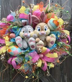 Easter Wreath Thumper Wreath Bunny Wreath Thumper by BaBamWreaths