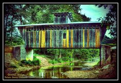 Neat little covered bridge that is just outside the line for Putnam County, Tennessee.  This was nearly knocked off it's endwalls during the flood that hit Cookeville, TN in August 2010.  This image is an HDR created from three images taken at -2, 0, +2 EV.