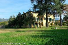 """Fascinating villa built in the 1500s by the famous Diodati family of Lucca, Tuscany is out for sale. The Diodati's were part of a group of about sixty noble families from Lucca who emigrated to Geneva, sometimes called the """"Italian Cabal"""". Today the villa is owned by a family of Antiques dealers and restorers. Lucca, Geneva, Villas, Tuscany, Families, Restoration, Paradise, Group, Antiques"""