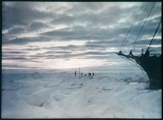 The impenetrable icefield which prevented us from reaching the land [showing part of the 'Endurance'], 1915 / photographed by Frank Hurley by State Library of New South Wales collection, via Flickr