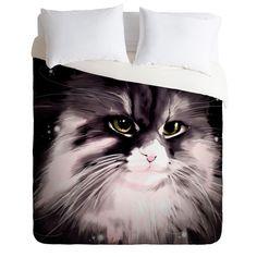 Deniz Ercelebi Isabella Duvet Cover #feline #cat