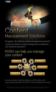NVISH brings robust content management services that effectively create, manage, distribute and publish your corporate information on a website, intranet .