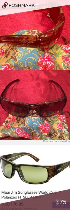 MAUI JIM WORLD CUP POLARIZED Model HT266 -15 MR Maui Jim Accessories Sunglasses