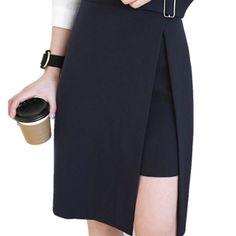 Fashion Summer Autumn Women Skirts Formal Office High Waist Slim Pencil Skirt Open Fork Plus Size Jupe Saia