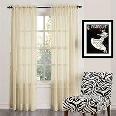 "Empire Home 2-Piece Solid Cream Sheer Voile Curtain Panel 84"" Long, http://www.amazon.com/dp/B01F0FF0XQ/ref=cm_sw_r_pi_awdm_x_YEufybACQQEVA"