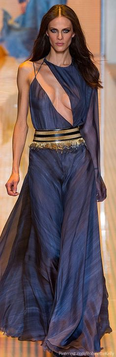 Versace S/S 2013 | Blue and Gold