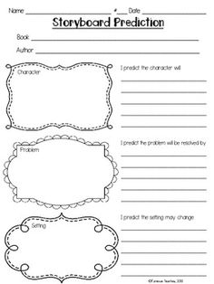 This prediction storyboard graphic organizer is a great way to guide your students into making accurate predictions based on the text.