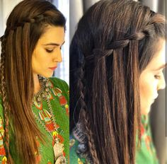 indian bridal hairstyles for long hair – Hair styles Saree Hairstyles, Open Hairstyles, Indian Wedding Hairstyles, Straight Hairstyles, Braided Hairstyles, Simple Hairstyles, Hairstyle Ideas, Front Hair Styles, Medium Hair Styles