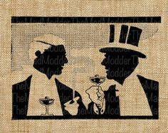 vintage silhouette man cigar - Google Search
