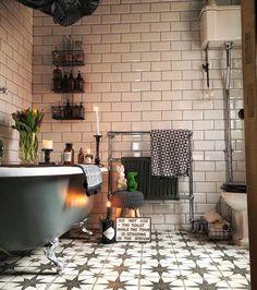 Scandinavian Style Home, Scandinavian Design, Feature Tiles, Bathroom Inspiration, Bathroom Ideas, Modern Bathroom, Room Tour, Clawfoot Bathtub, Wow Products