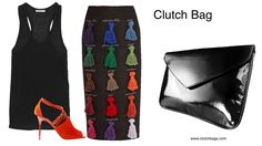 I thought I've seen everything but this takes the cake! This eclectic approach to design featuring an eye-catching array of tassels needs a simple classic Clutch Bag to make this skirt stand out! Are you daring enough to wear this? Follow us on Instagram & Pinterest @ Clutchbags.com Clutch It and Go! www.clutchbags.com http://www.clutchbags.com/…/904d52b8-63cb-53bd-0e71-c9adb7b… #envelopebag #clutchbag #patent #madeinusa #nyc #keepitclutchTheoutnet.com DOLCE…