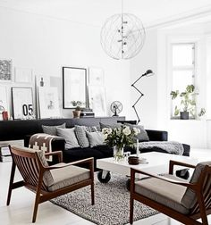 Image result for scandinavian style dark furniture
